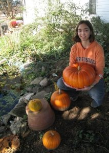 Elise and her pumpkin