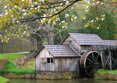 Mabrys Mill--Old grits mill along the Blue Ridge Parkway in Virginia