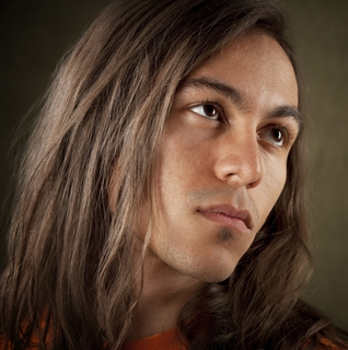 handsome young Native American man