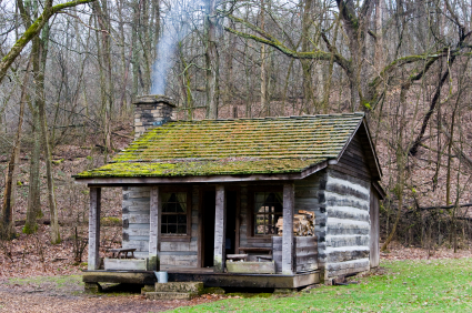 log cabin cabin hillbilly forest log appalachian