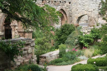 Formal Garden Flower Bed Old Ruin Gothic Style