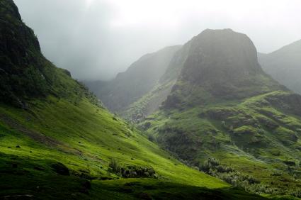 Scottish Highlands pass at Glencoe