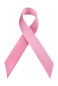 Pink Breast Cancer Ribbon.