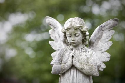 Favorite Angel, Cemetery, Statue, Tombstone, Cherub, Child, Stone, Grave  OV11