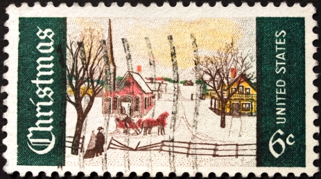 early American Christmas Stamp