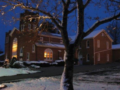 Singers Glen, Virginia  Brick Church in Snow
