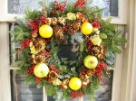 Wreath on door in Williamsburg