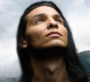 Handsome Native American warrior