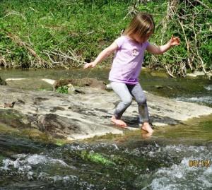 chloe in the creek