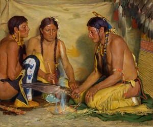 JosephHenry Sharp-Making Sweet Grass Medicine - Blackfoot Ceremony