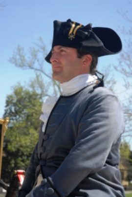 Colonial Williamsburg reenactor on horseback