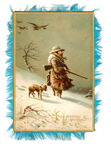 Vintage Christmas Card wintry scene