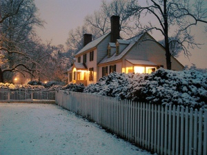 Colonial Home at Christmas