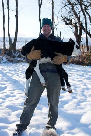 Diron holding baby calf.jpg1