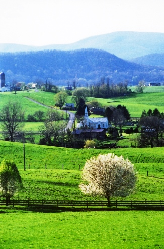 The Shenandoah Valley of Virginia in spring