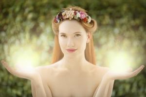 lovely magical fairy woman