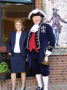 Beth with the town crier