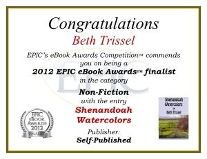 2012 EPIC Ebook Award finalist-nonfiction