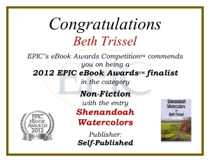 2012 EPIC Ebook Award finalist-nonfiction