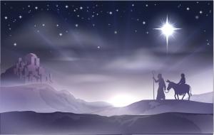 Mary and Joseph journey to Bethlehem