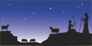 Shepherds at Christmas