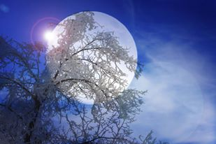 ghostly moon