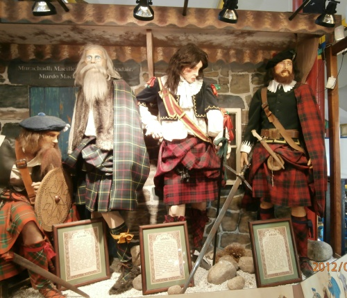 Scottish Highlanders in kilts